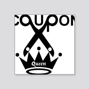 "couponqueen Square Sticker 3"" x 3"""