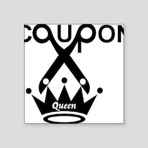 "couponqueen Square Sticker 3"" x 3"""