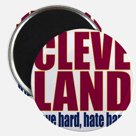 ART Cleveland love hard hate hard big Magnet