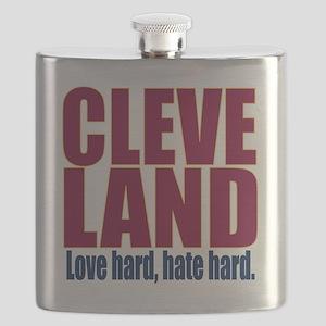 ART Cleveland love hard hate hard big Flask