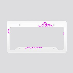 swim pink License Plate Holder