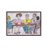 Big Heads and Pin Heads Rectangle Magnet (10 pack)