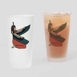 Egyptian Goddess Maat Drinking Glass