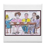 Big Heads and Pin Heads Tile Coaster