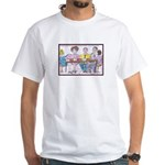 Big Heads and Pin Heads White T-Shirt