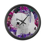 West Highland White Terrier Large Wall Clock