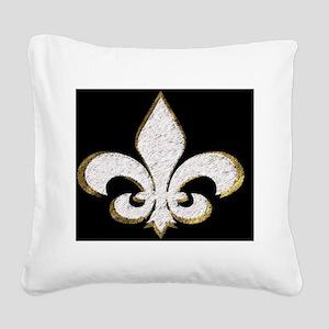 Fleur de Lis  plate 2 Square Canvas Pillow