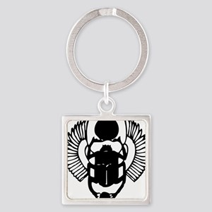 egyptian scarab with wings Square Keychain