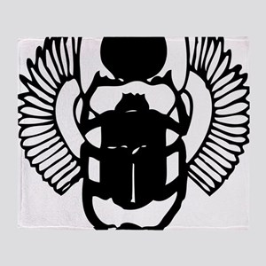 egyptian scarab with wings Throw Blanket