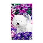 West Highland White Terr Sticker (Rectangle 50 pk)