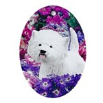 West Highland White Terrier Oval Ornament