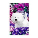 West Highland White Terrier 35x21 Wall Decal
