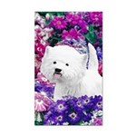 West Highland White Terrier Rectangle Car Magnet