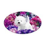 West Highland White Terrier Oval Car Magnet