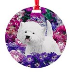 West Highland White Terrier Round Ornament