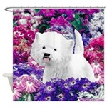 West Highland White Terrier Shower Curtain