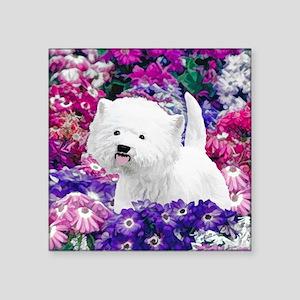 "West Highland White Terrier Square Sticker 3"" x 3"""