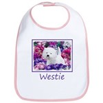 West Highland White Terrier Cotton Baby Bib
