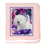 West Highland White Terrier baby blanket