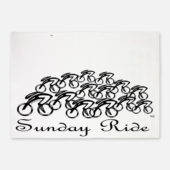 PelotonSUNDAY RIDE 5'x7'Area Rug