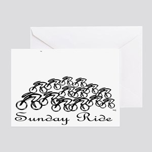 PelotonSUNDAY RIDE Greeting Card