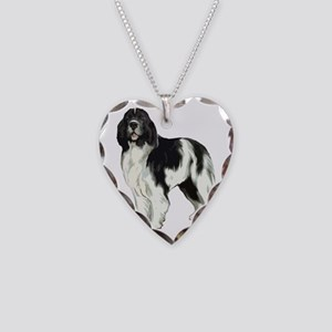 standing landseer2 Necklace Heart Charm