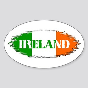 Irish Weathered Flag Ireland Oval Sticker