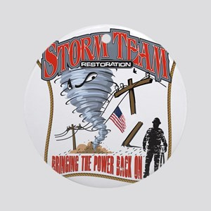 2011 Tornado Storm Cafe Press Round Ornament
