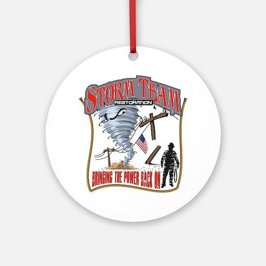 2011 Tornado Storm Cafe Press Round Ornament