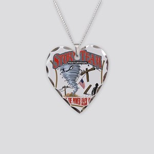 2011 Tornado Storm Cafe Press Necklace Heart Charm