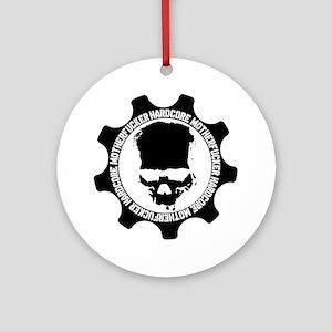 HARDCORE-MOTHERFUCKER-4-WHITE Round Ornament