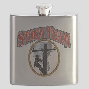 2011 Tornado Storm front Cafe Press Flask