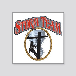 "2011 Tornado Storm front Ca Square Sticker 3"" x 3"""