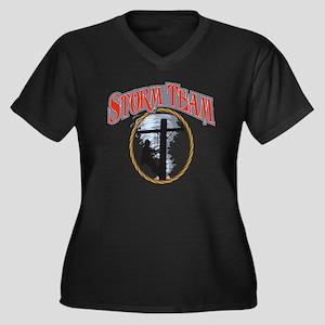 2011 Tornado Women's Plus Size Dark V-Neck T-Shirt