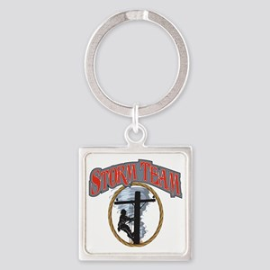 2011 Tornado Storm front Cafe Pres Square Keychain