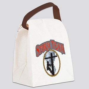 2011 Tornado Storm front Cafe Pre Canvas Lunch Bag