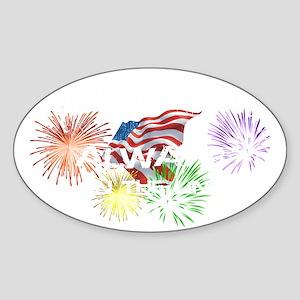 american lineman 1 Sticker (Oval)