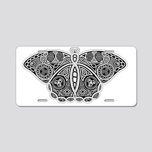 Celtic Moth Aluminum License Plate