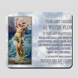 1 A ZATZKA-WaterNymph-AsWaterFlows Mousepad