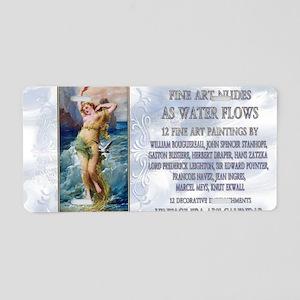 1 A ZATZKA-WaterNymph-AsWat Aluminum License Plate