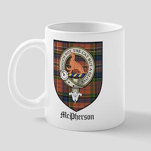 McPherson Clan Crest Tartan Mug