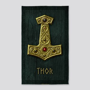 Thors Hammer X Gold- THOR 3'x5' Area Rug