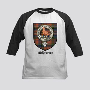 McPherson Clan Crest Tartan Kids Baseball Jersey