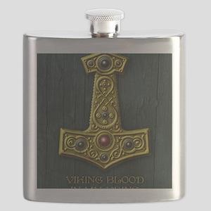 Thors Hammer X Gold- Viking Blood Flask