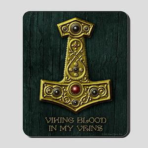 Thors Hammer X Gold- Viking Blood Mousepad