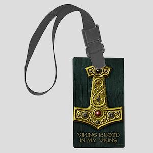 Thors Hammer X Gold- Viking Bloo Large Luggage Tag