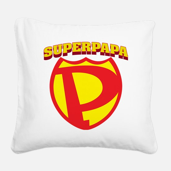 SuperPapa Logo Square Canvas Pillow