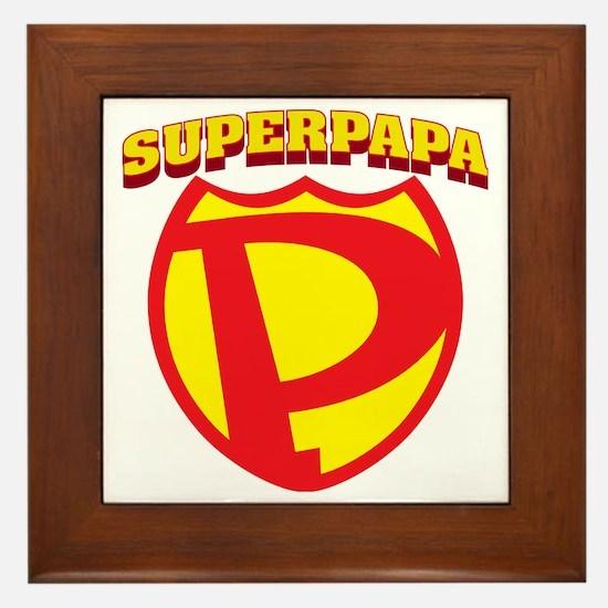 SuperPapa Logo Framed Tile
