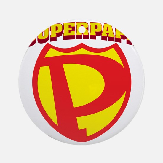 SuperPapa Logo Round Ornament