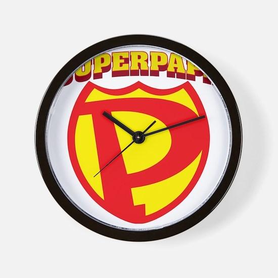 SuperPapa Logo Wall Clock